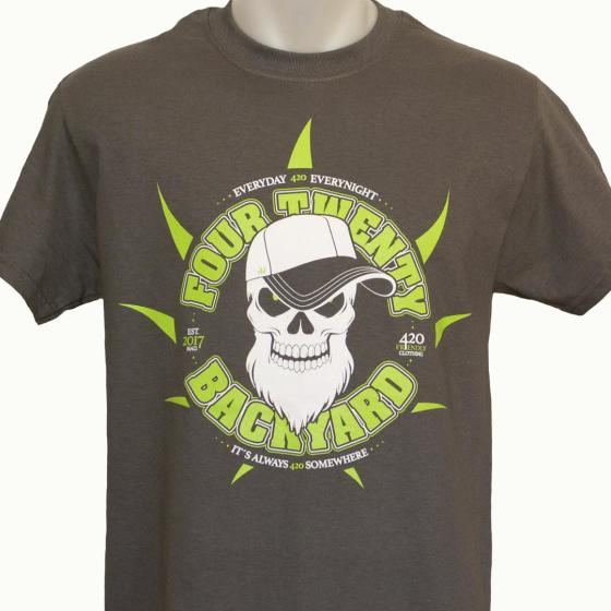 420BACKYARD T-Shirt Skull Grey XXL