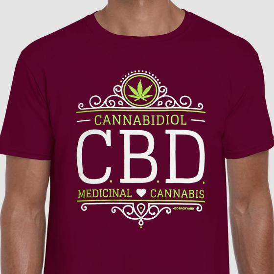 420BACKYARD T-Shirt CBD Wine M