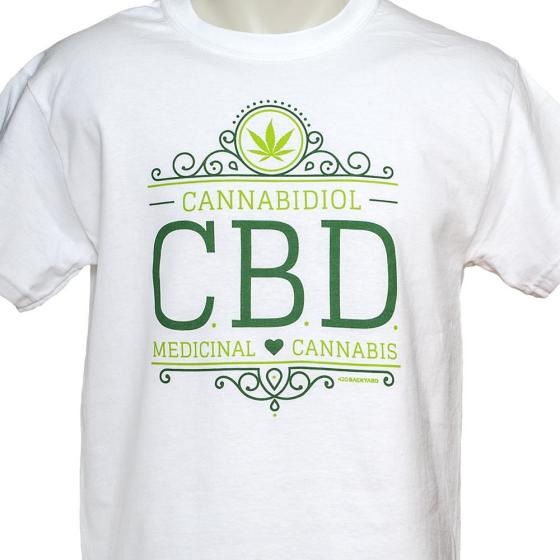 420BACKYARD T-Shirt CBD White L