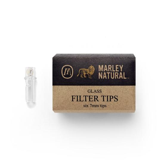 Marley Natural - Glassfilter 7mm BLACK (6pc.)