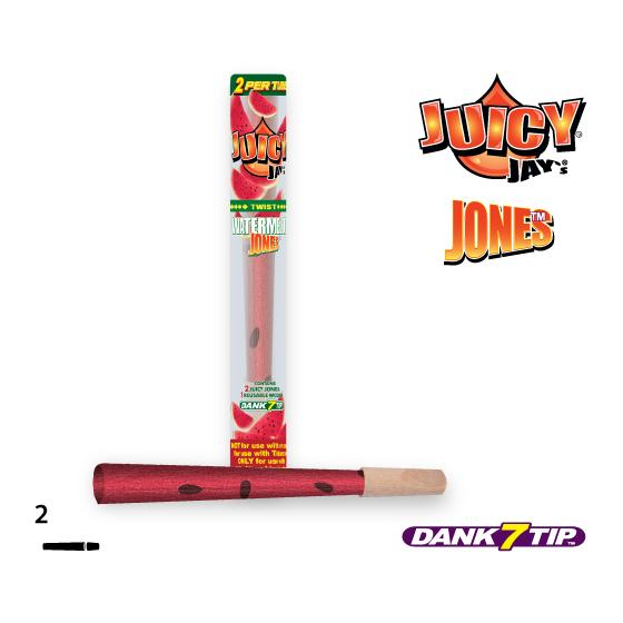Juicy Jay´s® Jones KS Watermelon, 2xCones & 1xHolzfilter,9cm