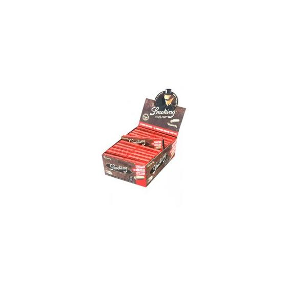 Smoking Brown King Size slim + Tips, ungebleicht, 33 Blatt